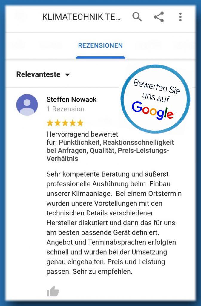 Kundenbewertung auf Google